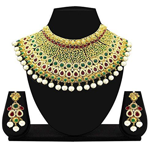 Indian Bollywood Inspired Gold Plated Red & Green Stone P... https://www.amazon.com/dp/B01N4OYF03/ref=cm_sw_r_pi_dp_x_dHDHybPE590WE