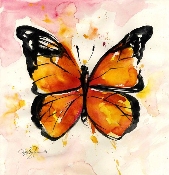 Monarch Butterfly ... No. 2 ... Original by KathyMortonStanion, $175.00
