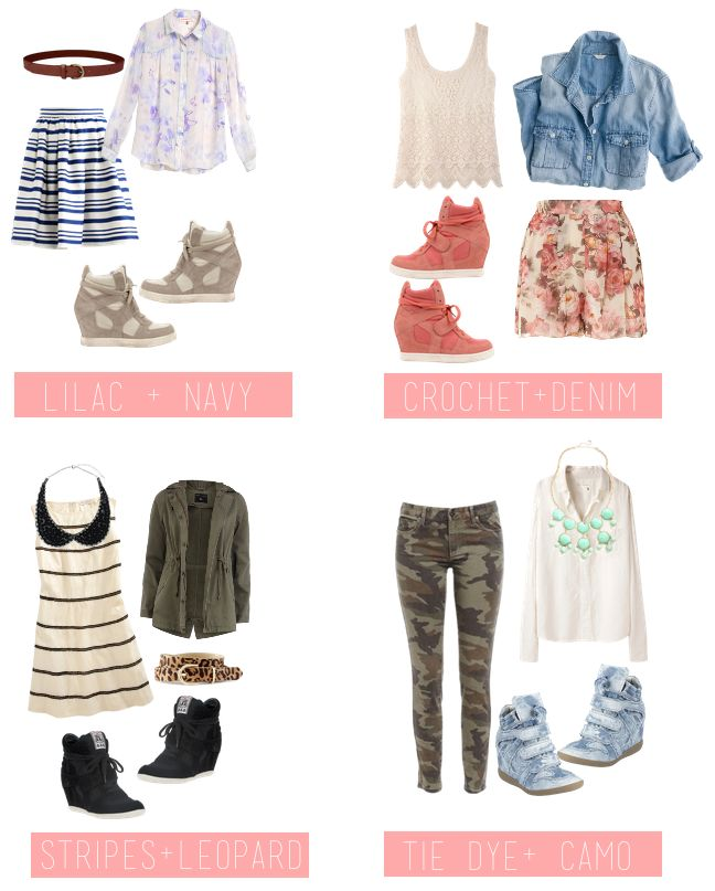 sneaker wedge outfits spring