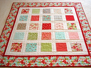 I just made a baby quilt out of this charm pack. :)