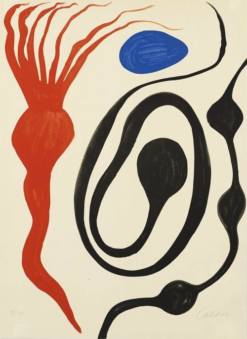 Alexander Calder (American, 1898-1976), Untitled. Llithograph on paper, 29.75 x 22 in. Numbered 9/175.
