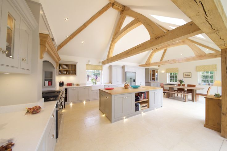 ... Decorating Ideas Oak Building Development Project Open Plan Living Oak  Beam Natural Structures Artisan Build Building New Home Modern Contemporary  Style ...