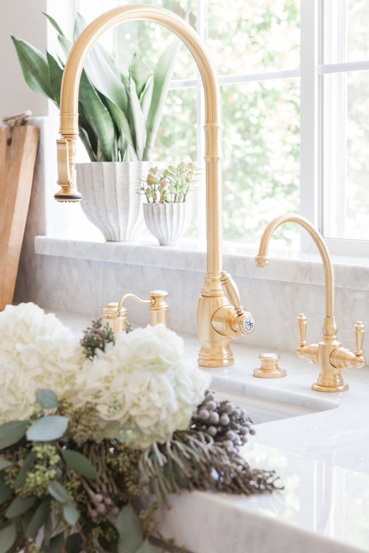 46 best pulldown faucets images on pinterest dream kitchens waterstone traditional suite in satin brass find this pin and more on pulldown faucets