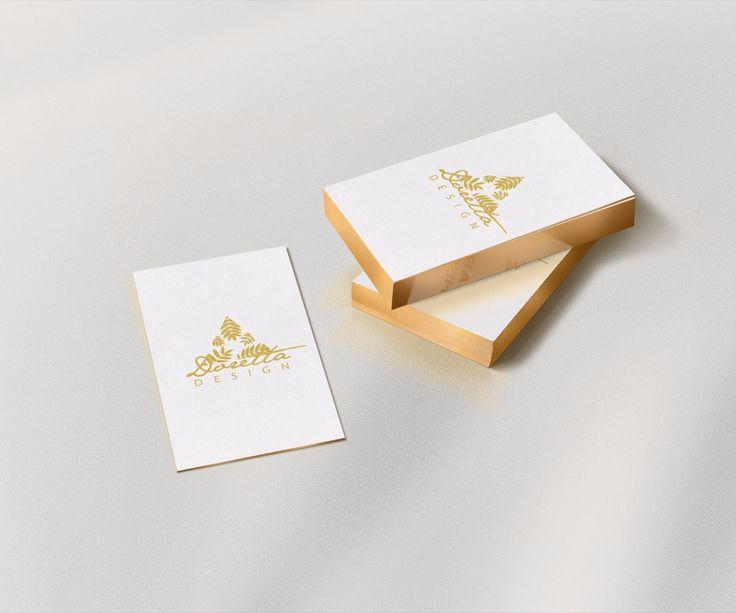 Projektek :: dorettadesign  Logo design for my brand, and the gold variation for business card.