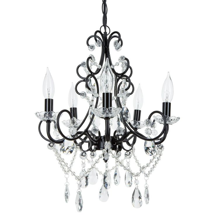 Madeleine Collection Crystal Swag Chandelier 5 Lights Authentic Glass Pendant Lighting Vintage Antique Black You Can Get More Details By Clicking On The