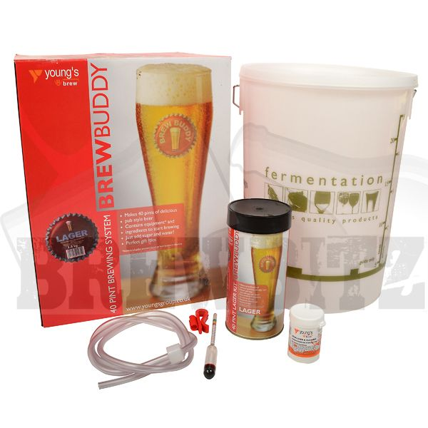 Buy BrewBuddy Lager 40 Pint Starter Package with Youngs Lager for sale at Brewbitz Home Brew Shop | Brewbitz.com Online Home Brew Shop