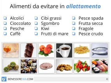 Alimentazione in allattamento: dieta, cibi da evitare e alimenti consigliati