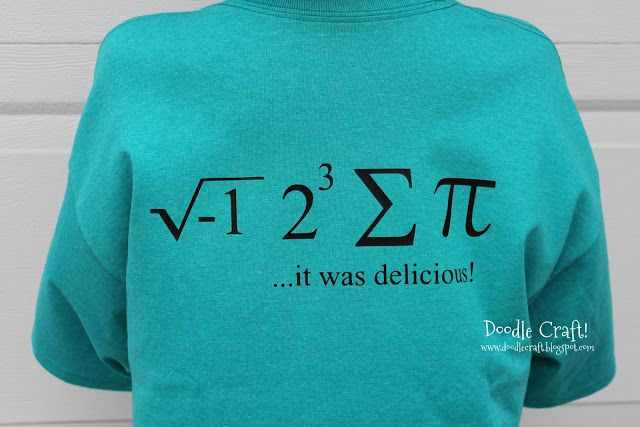 National Pi Day Funny Math Geek Shirt (How To DIY!)! ---- i 8 Sum Pi shirt. For math nerds all over!