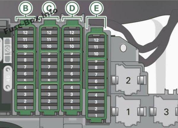 Audi A4 S4 B8 8k 2011 2012 Fuse Box Diagram Audi Audi A4