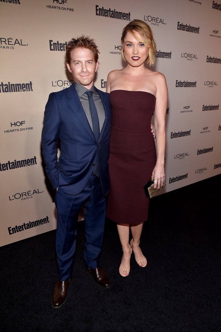 Pin for Later: Hollywood's Hottest Stars Step Out For a Pre-Emmys Bash — See the Best Snaps! Seth Green and Clare Grant