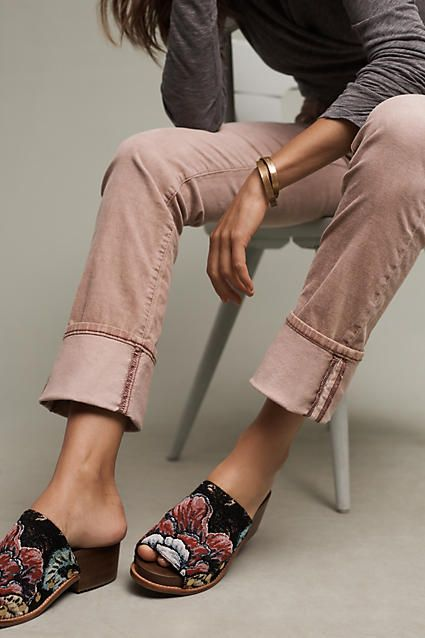 Pilcro Parallel Mid-Rise Cuffed Corduroys - anthropologie.com