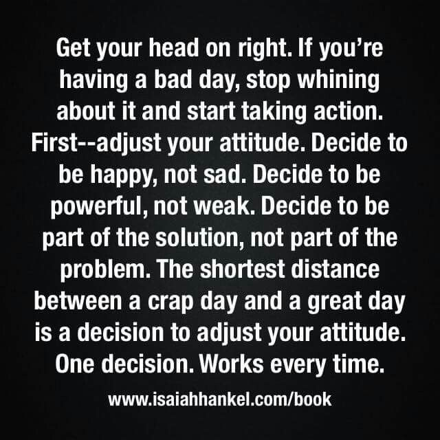It all about attitude