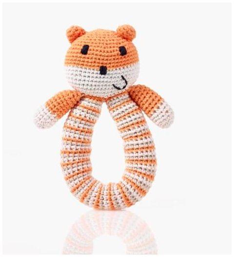 Pebble Hathay Bunano - Bear Rattle - Orange