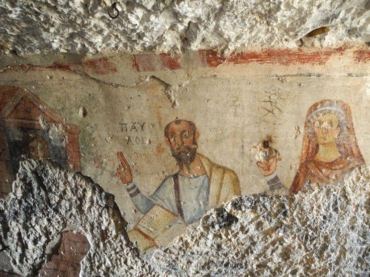 Апостол Павел. Фреска из пещеры свв.Павла и Фёклы