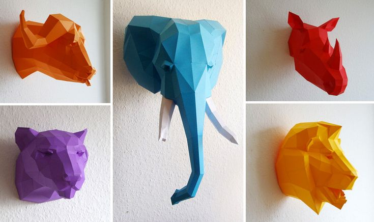 DIY Geometric Paper Animal Sculptures by Paperwolf  http://www.thisiscolossal.com/2014/11/diy-geometric-paper-animals-by-paperwolf/