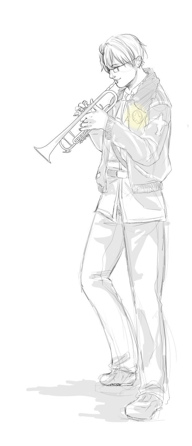 Instrument Headcanon #8 by Owyn-Sama.deviantart.com on @deviantART - Eighth in a series assigning musical instruments to Hetalia characters: Alfred with a trumpet. Needless to say, whether one thinks of jazz or even military music, this one just...works.