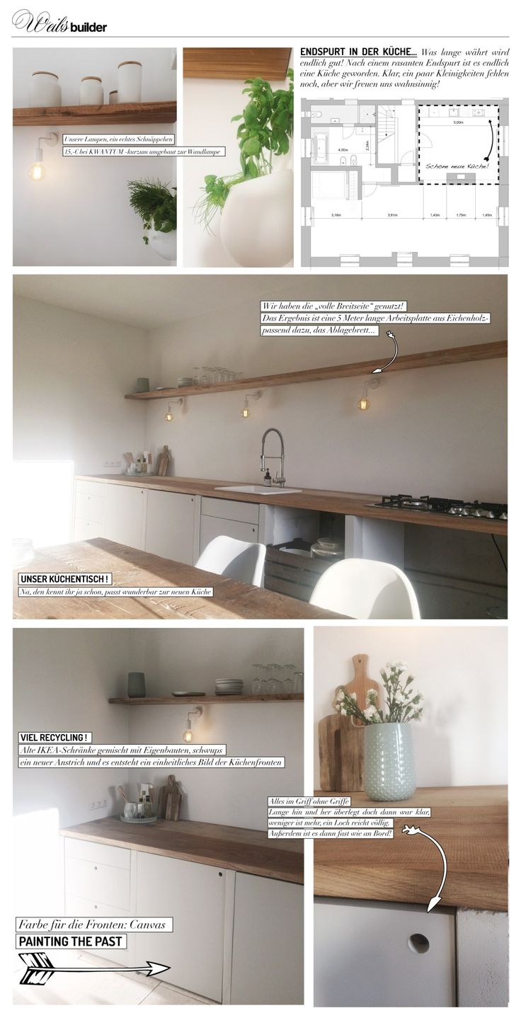Moodboard zu unserer selbstgebauten Küche!  #Küche #Y-Ton #DIY #Selbermachen #Holz #Eichnholz #Küchenregal #Interiordesign #Kitchen