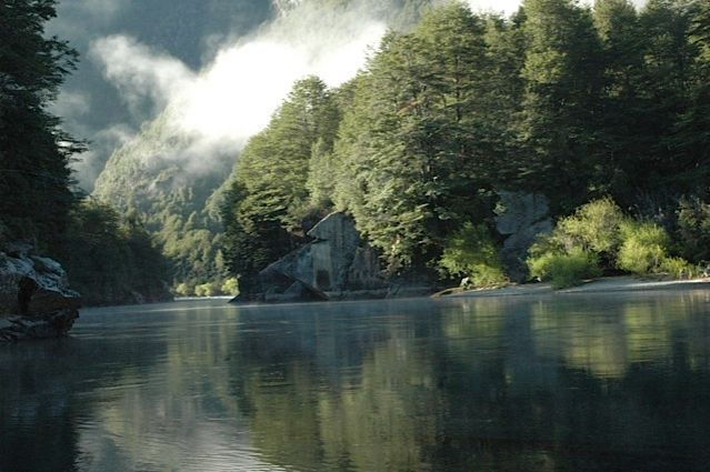 The view of the Futaleufu River from camp at Bio Bio Patagonia