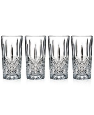 Marquis by Waterford Markham Highball Glasses, Set of 4 $39.99 The delicate cuts of Marquis by Waterford's set of four Markham highball glasses add plenty of style to cocktail hour. The traditional pattern and defined contours combine to create an unforgettable effect.