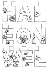 Halloween - písmenká na výzdobu