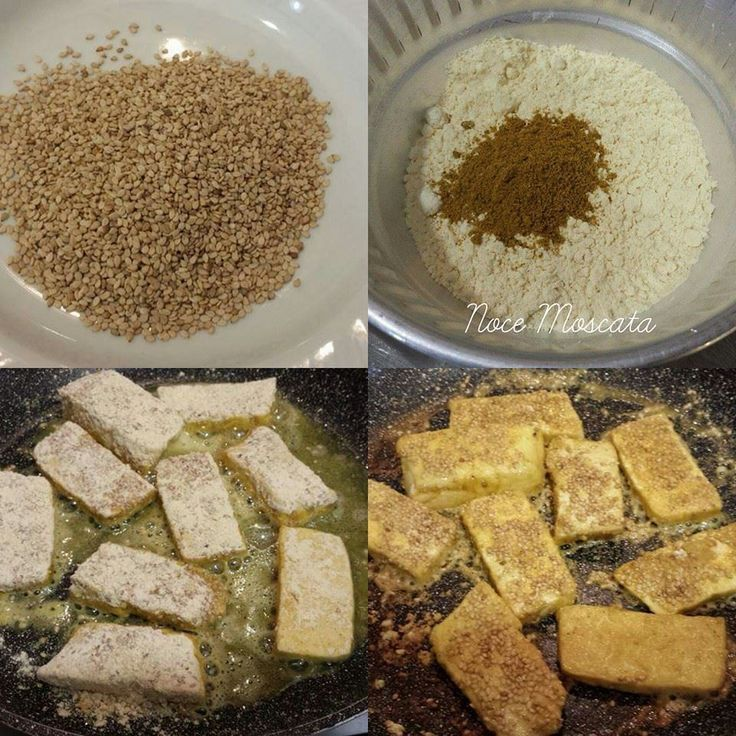 Tofu croccante al sesamo e curry