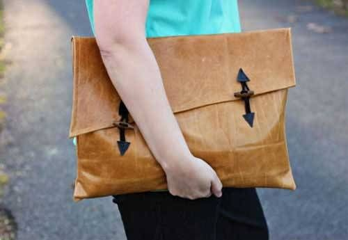 Asymmetrical Clutch Bag - Free Sewing Tutorial by Alida Makes