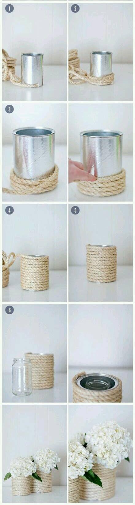 #Tutorial: come riutilizzare dei barattoli di vetro e di latta!  www.gianclmanufatti.com