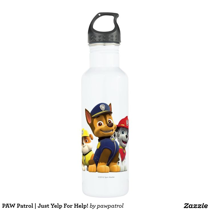 PAW Patrol | Just Yelp For Help! Puppy, dog lover. Regalos, Gifts. #bottle #botella