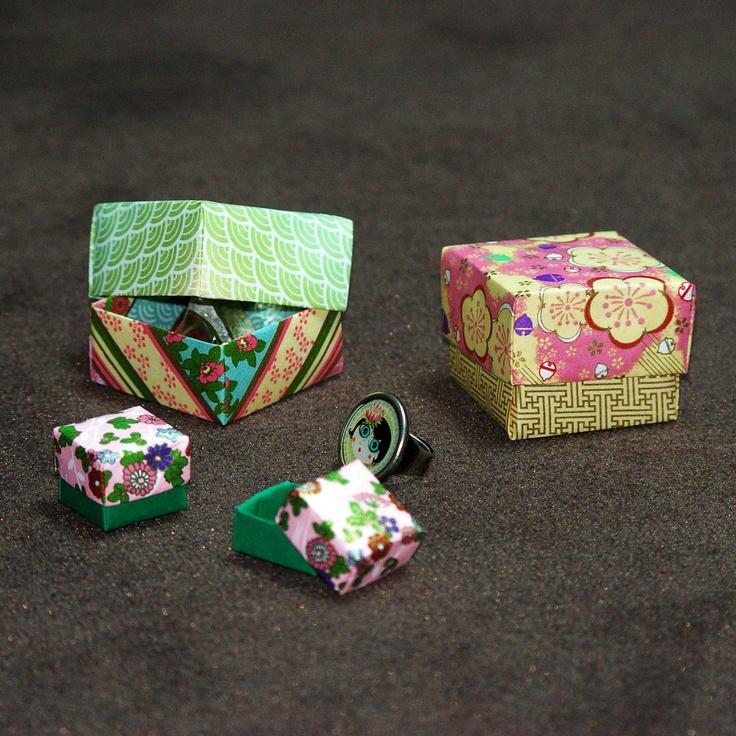 en papier - origami - boites origami - pliage - | papier | Pinterest
