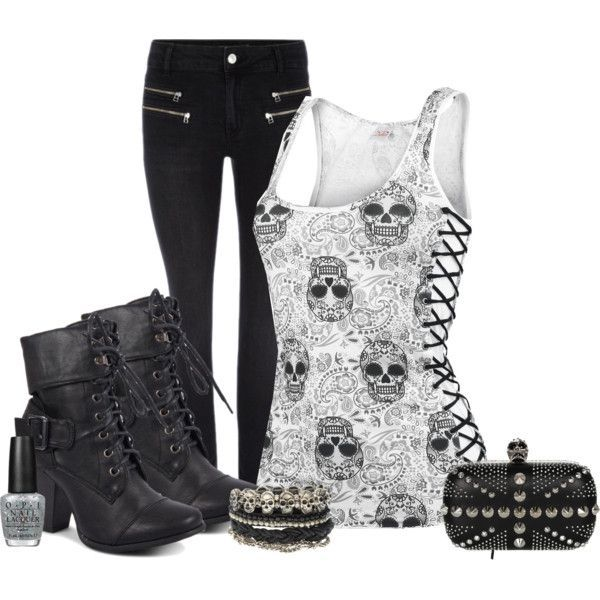 "skulls #399"" by jodilynnz on Polyvore"