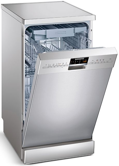 The Siemens SR26T891EU is basically a freestanding twin of the Siemens SR56T591EU built-in narrow dishwasher. You get a silver anti fingerprint stainless steel finish, 10 [...]