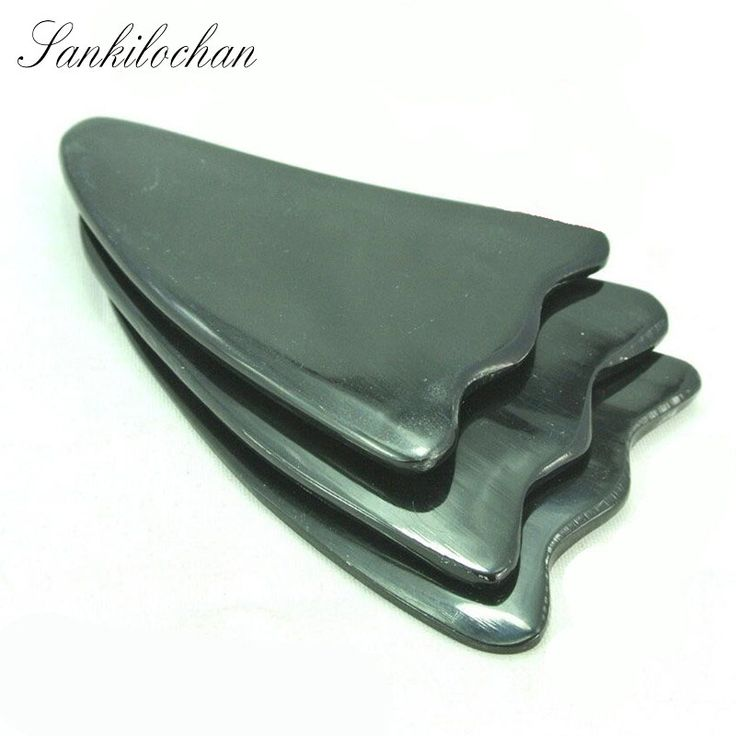 Large Natural Buffalo horn SPA Scraping Plate Body Massager Chinese Traditional Acupuncture Massage Gua Sha Board Scrape Therapy
