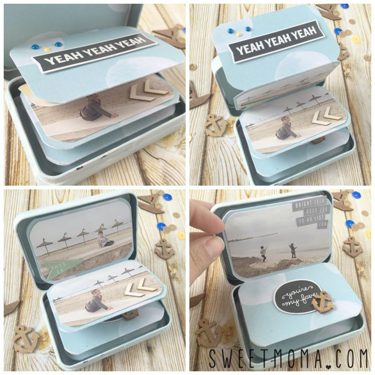 sweetmoma_mini en cajita #scrapbooking #paper #papercrafts