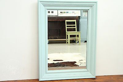 ANTIQUE PAINTED TIMBER FRAMED MIRROR - MIRROR NEW