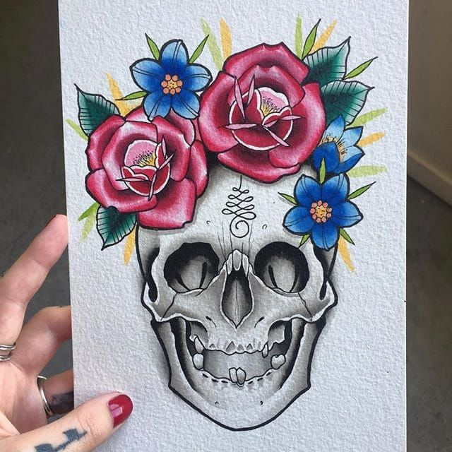 Feminine Sugar Skull Tattoo Designs Jerusalem House