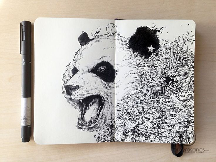 Mind-Blowing Moleskine Doodles by Kerby Rosanes