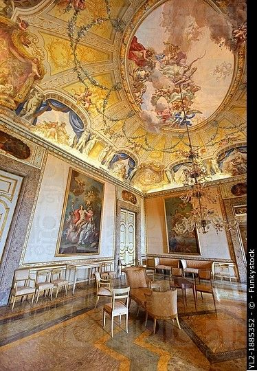 The audience room of the queens and the kings of naples royal palace of caserta italy a - Interior designer caserta ...