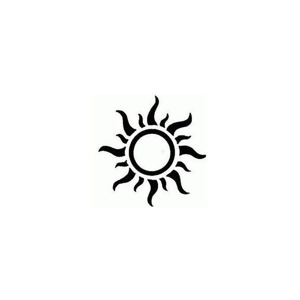 Sun Tattoo Designs ❤ liked on Polyvore featuring accessories and body art