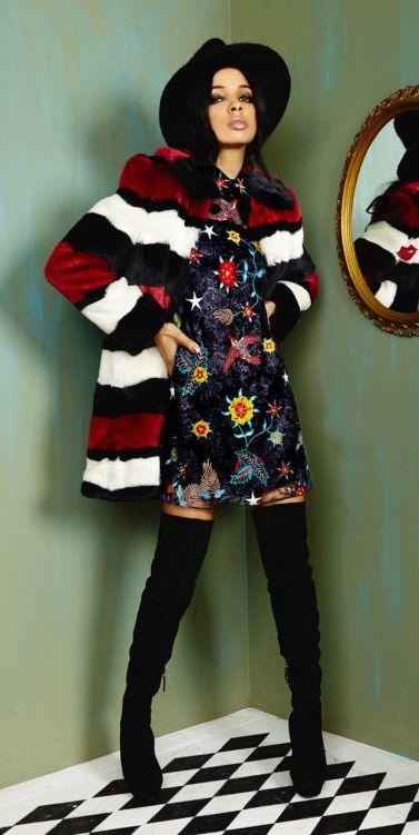 шуба Alice& Olivia модные тренды - мех и шубы зима 2016/2017 - какие шубы в моде Зима 16/17 #fur #fashion #winter #winter2016/2017 #fashiontrend #шуба #трендзима2016