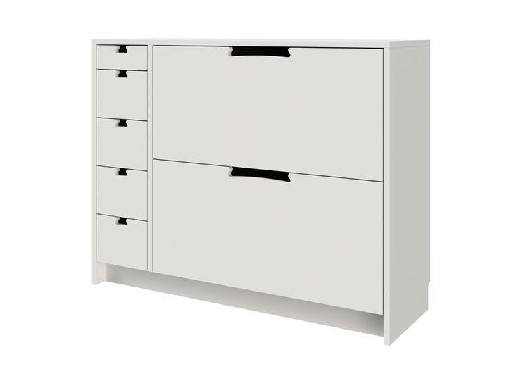 FLEX Skoskåp Vit i gruppen Inomhus / Förvaring / Hallmöbler hos Furniturebox (110-91-108103)