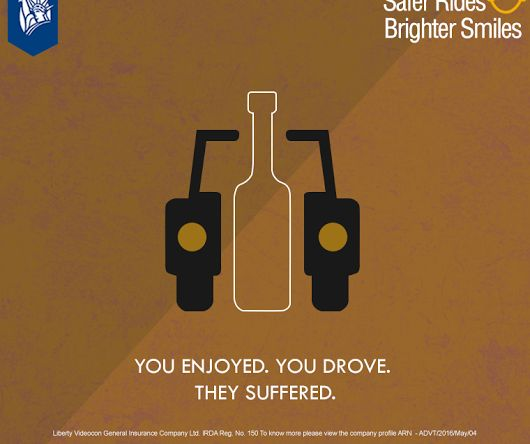 The only good thing drinking & driving does is... Can't find any! #SaferRidesBrighterSmiles #libertyvideocon