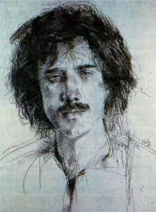 Autorretrato, Luis Caballero (1943-1995), autor da ilustração da capa de Poemas Homoeróticos Escolhidos
