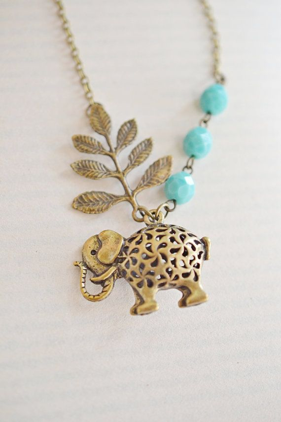 charm dainty good clean necklace wildflower elephant gold luck co