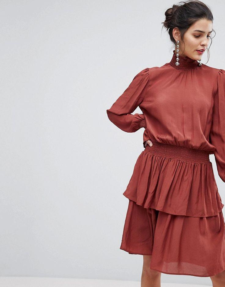 Y.A.S - Hochgeschlossenes Stufenkleid - Schwarz Jetzt bestellen unter: https://mode.ladendirekt.de/damen/bekleidung/kleider/sonstige-kleider/?uid=2ed9018f-f0fa-5111-a08e-7f537537c711&utm_source=pinterest&utm_medium=pin&utm_campaign=boards #sonstigekleider #kleider #abendkleider #female #bekleidung Bild Quelle: asos.de