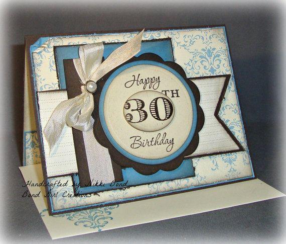 30th birthday Handmade birthday cards and Birthday cards – Handmade 30th Birthday Cards