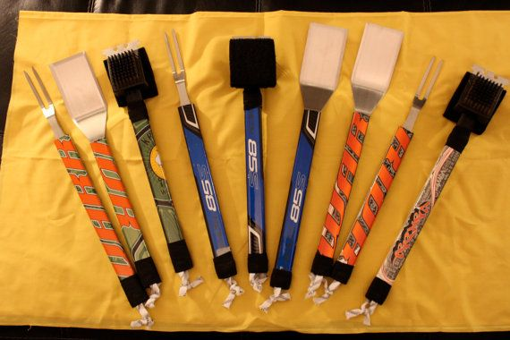 The Original Hockey Stick Grilling / BBQ Tool by HockeyStickStuff