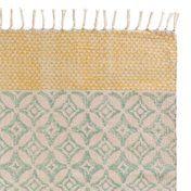 Teppiche & Matten Sangli, Baumwolle, Petrol, 70x140 cm