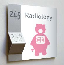 Great set of signage for a hospital, I think it would be best suited for a children's hospital.