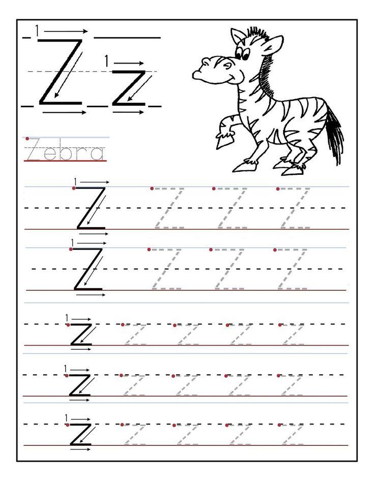 Letter A Tracing Worksheets For Kindergarten