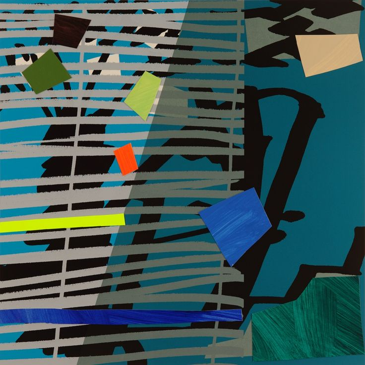 Blue Grey Blind by Bruce McLean